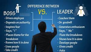 The Difference Between a Leader and a Boss – True ...