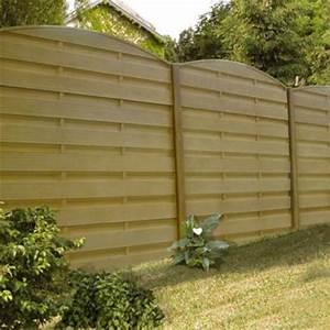 beautiful cloture de jardin beton imitation bois pictures With cloture de jardin en beton prix