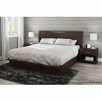 modern platform bed King size Modern Platform Bed with 2 Storage Drawers in ...