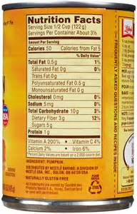 Libbys Pumpkin Pie Mix Nutrition Information by Libby S Canned Pumpkin 15 Oz Free Shipping