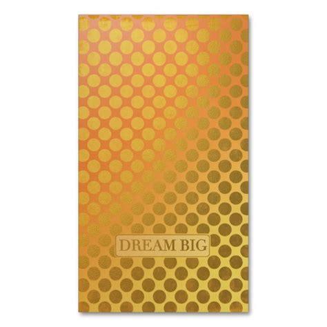 dream big faux gold dots business card zazzlecom