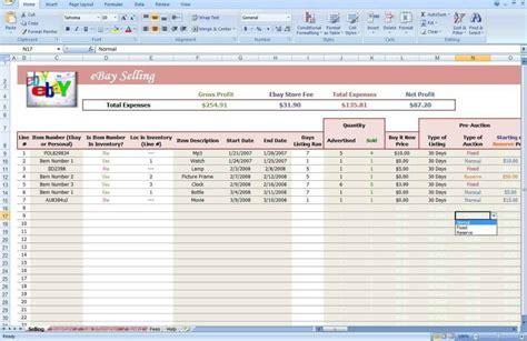 ebay spreadsheet template db excelcom