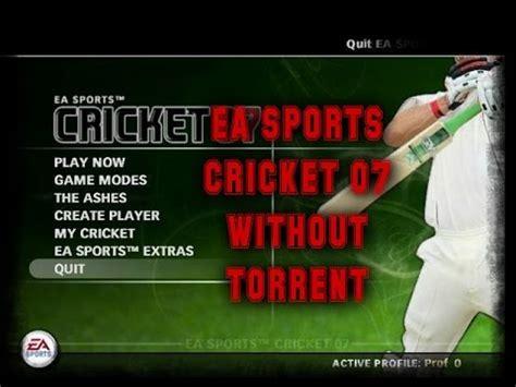 ea sports cricket   torrent full version step  step youtube