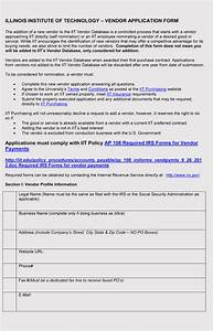 Work Release Forms Templates 9 Printable Blank Vendor Registration Form Templates For