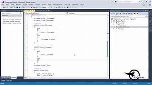 Add Methods  U0026 Constructors In A C   Net Class Diagram Vs 2013 - Video