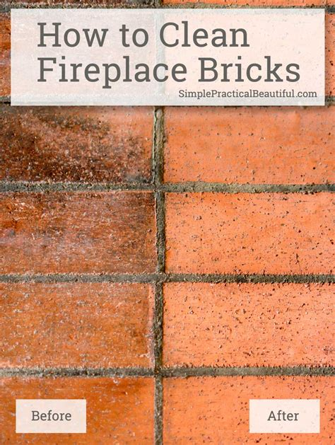 how to clean brick fireplace how to clean fireplace bricks simple practical beautiful
