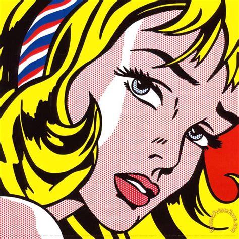 roy lichtenstein with hair ribbon c 1965 print for sale canvasprintshere