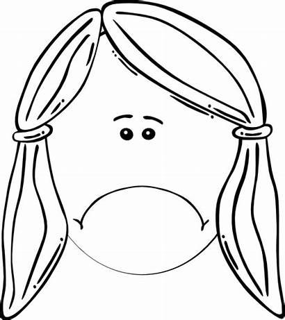 Sad Clip Clipart Coloring Jail Transparent Face