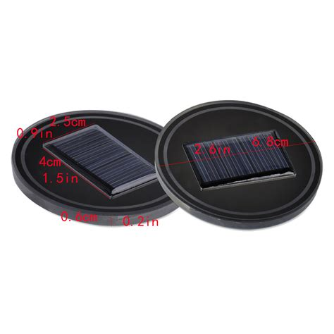 Lade Led Auto by 2x Auto Led Licht Becherhalter Pad 6 8cm Solar Lade Tasse
