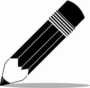 Pencil And Paper Clip Art Black And White
