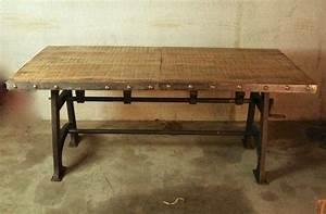 Table A Manger Industrielle : table de salle manger industrielle extensible ~ Teatrodelosmanantiales.com Idées de Décoration