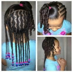 Mixed Girls Hairstyles Braids and Beads