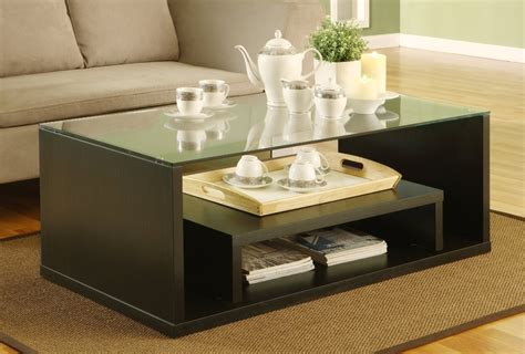 Style Living Room Tables by Contemporary Glass Coffee Tables Adding More Style Into