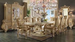 HD 7266 Homey Design Dining Room Set Victorian European