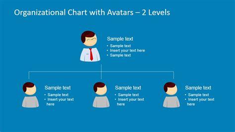 powerpoint organizational chart  avatars slidemodel