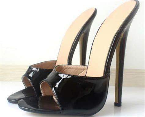 women man cm extreme heel stilettos peep toe slippers