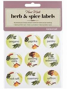 decorative herb spice labels for bottles jars broadoak With decorative labels for jars