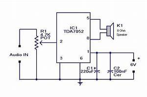 Diagram Ingram  Simple Mini Audio Amplifier Circuit