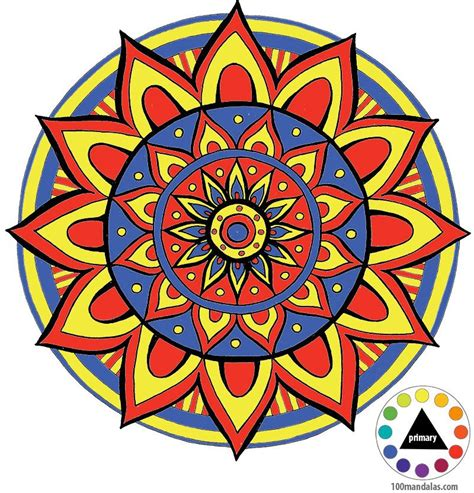 mandala to color coloring mandalas how to choose colors to create color