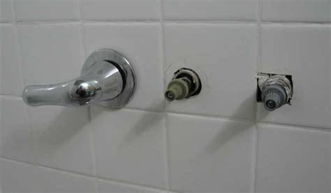replacing   handle tub shower faucet  moen posi