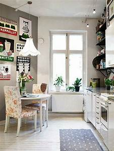 room decor ideas small kitchen solutions With deco cuisine retro