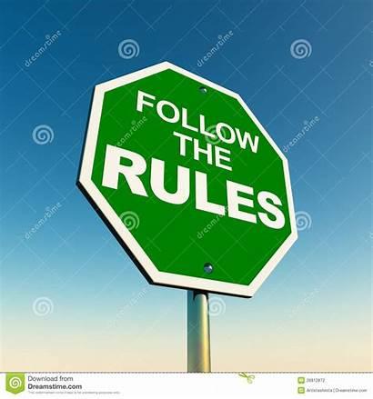 Rules Follow Sign Road Against Clipart Break
