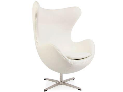 fauteuil egg arne jacobsen blanc