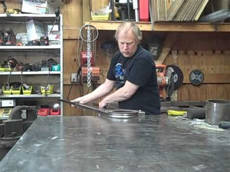 16 gauge vs 18 gauge hand bending 1 quot square 18 gauge steel tubing to a 4 1 2