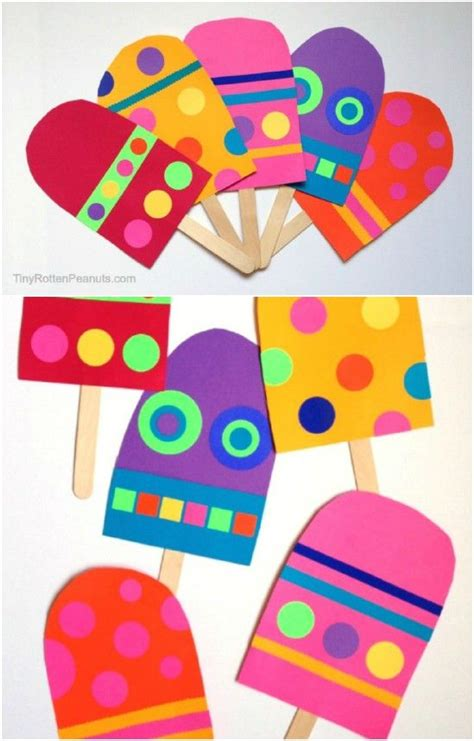 cute colorful craft stick popsicles pictures