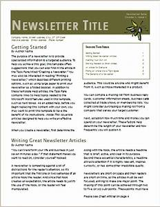 two page newsletter template josemulinohouseco With two page newsletter template