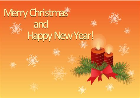 merry christmas and happy new year greetings card christmas christmas and new year vector