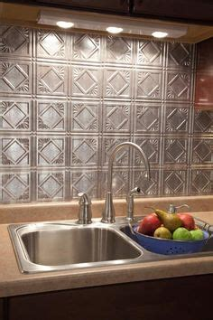 easy tiles for kitchen cover an tile backsplash with plastic quot tin quot from home 7013