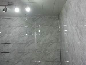 10 grey slate effect bathroom wall panels pvc bathroom With pvc sheets for bathroom walls