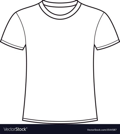 T Shirt Blank Template by Blank White T Shirt Template Royalty Free Vector Image
