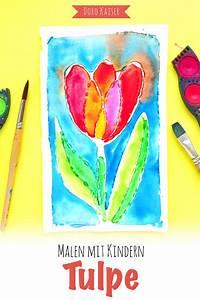 Malen Mit Kindern : malen mit kindern tulpe aus leim und wasserfarben doro kaiser grafik illustration ~ Orissabook.com Haus und Dekorationen