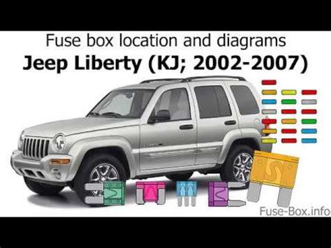 fuse box location  diagrams jeep liberty kj   youtube