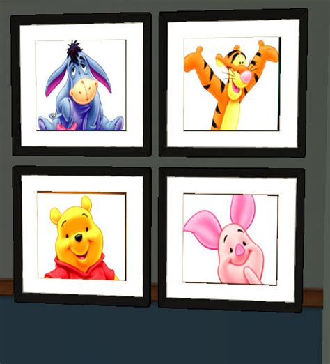 mod the sims winnie the pooh painting and rug set