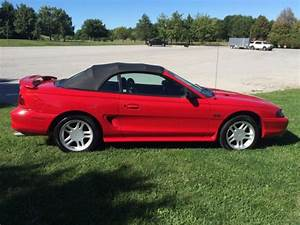 1996 96 Ford Mustang GT convertible low miles no reserve NR not cobra 1997 1998 - 1FALP45X6TF149333