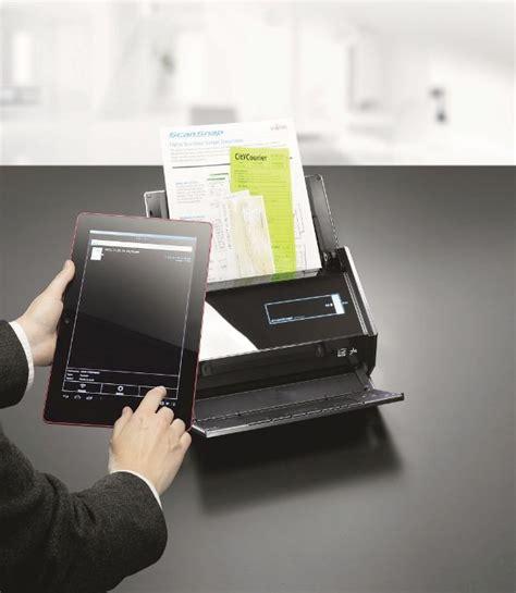 Fujitsu ScanSnap iX500, escanea documentos desde el tablet