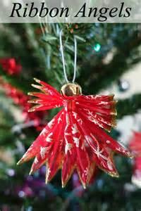 christmas wired ribbon diy ribbon angel ornaments