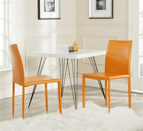 modern orange dining chair interior decoration