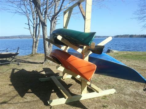 how to make a kayak rack simple woodworking projects diy wooden kayak rack