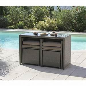 Meuble Pour Terrasse : meuble terrasse table et fauteuils 5 pi ces foggia u ~ Premium-room.com Idées de Décoration