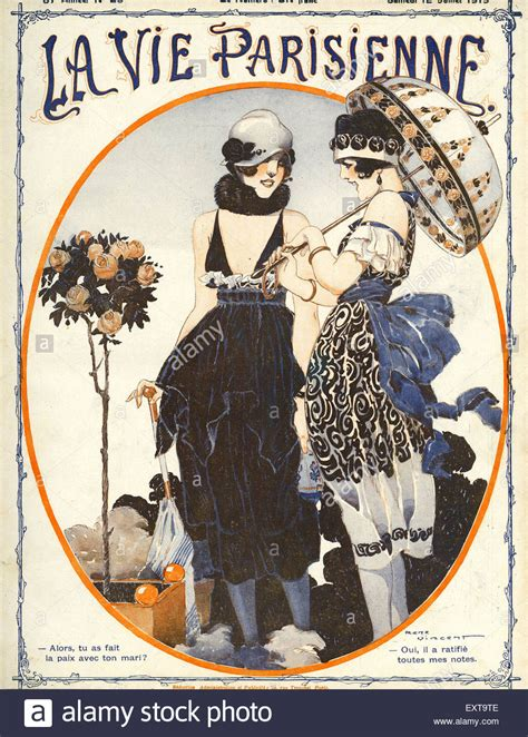 1910s france la vie parisienne magazine cover stock photo