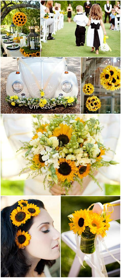 Rustic Sunflower Wedding Ideas And Wedding Invitations