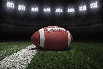 Football Stadium Field Lights Under College American
