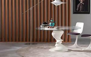 roche bobois table blanche ronde en verre sismic photo With roche bobois table ronde