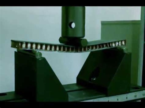astm  bend testing sandwich composites youtube