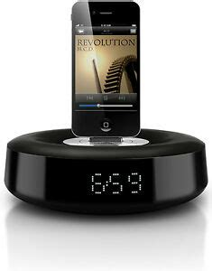 philips ds1110 fidelio speaker system ipod iphone dock w alarm clock ebay