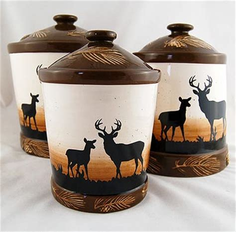 rustic kitchen canisters rustic deer canister set